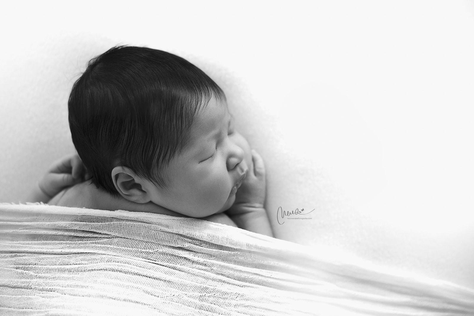 fotografia artistica de recien nacidos en barcelona sesion newborn en estudio